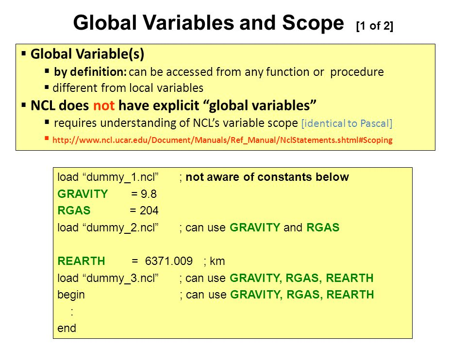 Global Variables and Scope [1 of 2]